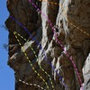 Climber on Plasma Alliance.<br> White - Final Frontier<br> Yellow - Ronnie Raygun<br> Green - Tieranny<br> Blue - The Probe<br> Pink - Plasma Alliance<br> Orange - Huecool Senior
