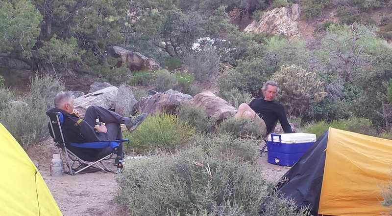 Limekiln camping with Brent Manning and some dude from Idaho we just met.