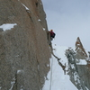 the start of the crux section