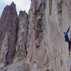 Ian Caldwell preparing for the crux section coming up on Starvation Fruit. 14.b