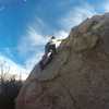 Going left, slightly easier than right side but the boulder is fun all around