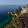 View of Lake Ohrid from the top of Saint Nikola