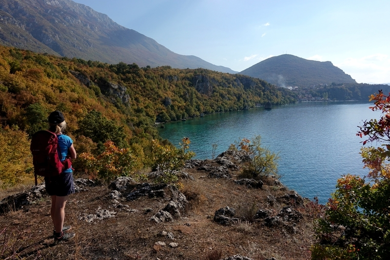 Looking towards the town of Trpejca from Saint Nikola