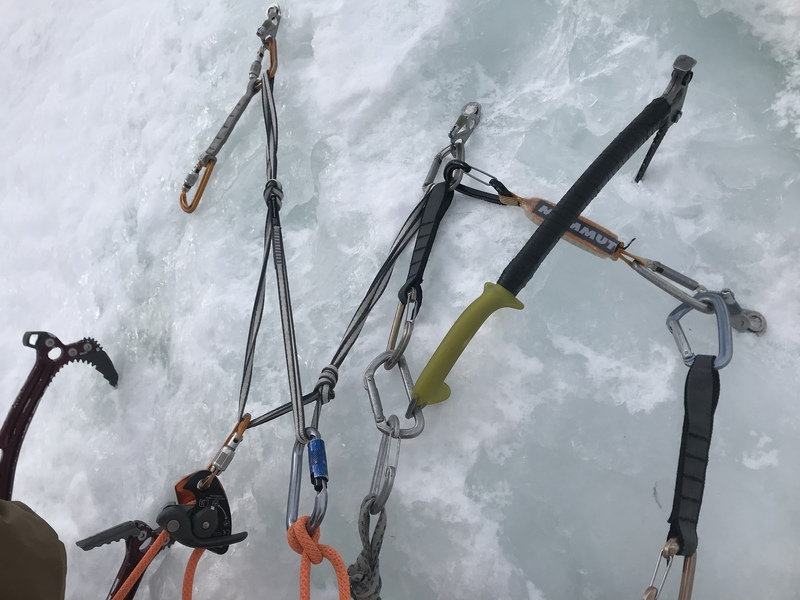 Bomber hanging ice anchor!!