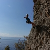 The scenic git off from Papucha.  Lake Ohrid looming large in the background.
