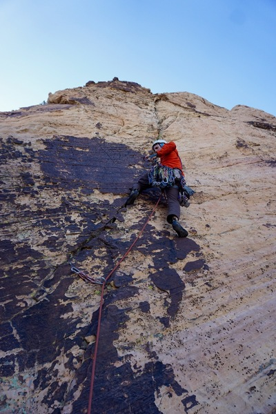Starting the 11th and final pitch (5.8) --- (Photo: Giselle Field)