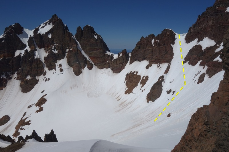 Good view on 11 oclock coolie (ski descent post NW ridge ascent)