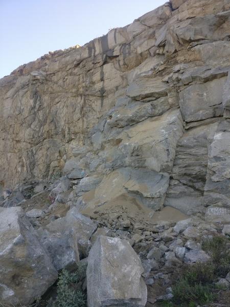 MAJOR rockfall on the route Schoolhouse Rock (5.8).