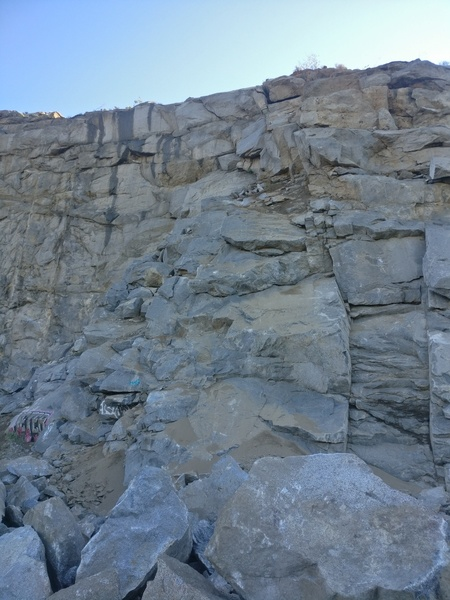 Some new boulders and lots of dirt on Schoolhouse Rock