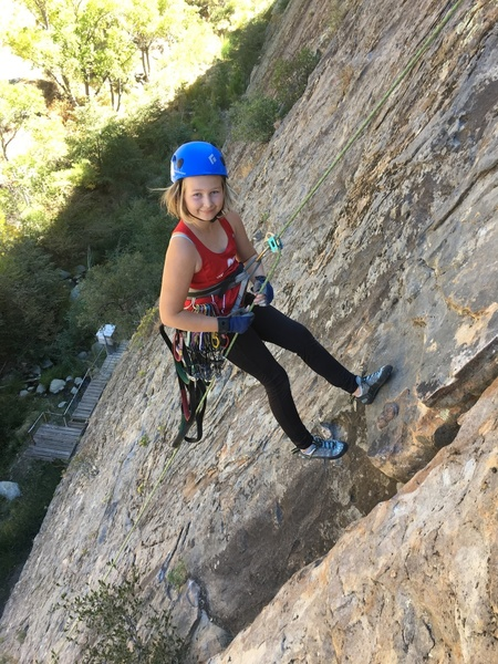 Lilly training for el cap... fun long pitch!
