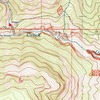 """The Ghosts Approach.  Follow the marked trail past Slogger to just before """"The Clearing"""".  The purple line shows the gully you descend to the creek."""