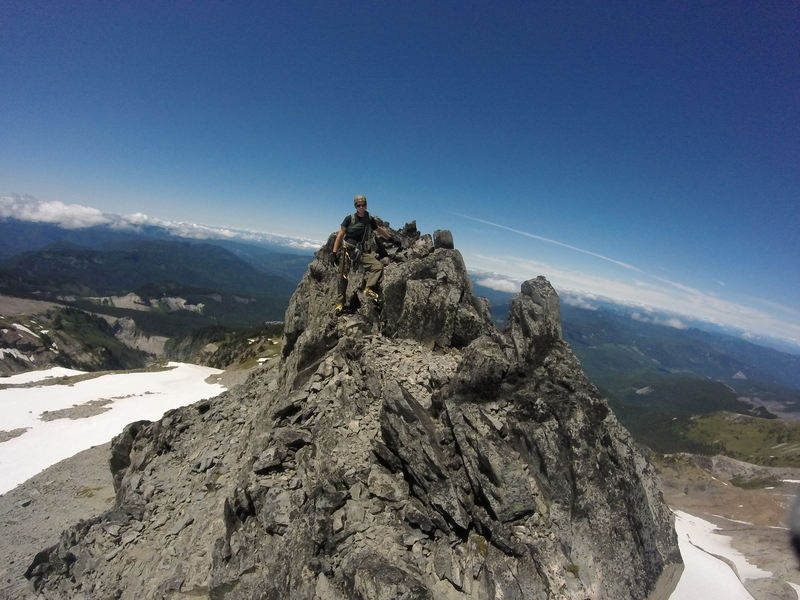 Mellow Mountaineering. Sandy Glacier. July 2015.