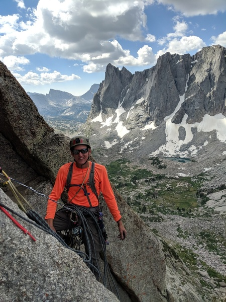 Descending the South Buttress. July 2018