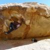 Mike A. having fun bouldering.