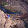 Up on Voyage of The Cowdog at Smith Rock