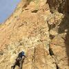 Alan Watts starts up Jim Climbing