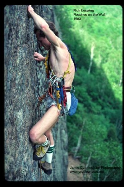 Rich Leswing leading Roaches on the Wall in 1983. Photo by Jamie (Jim) Cunningham