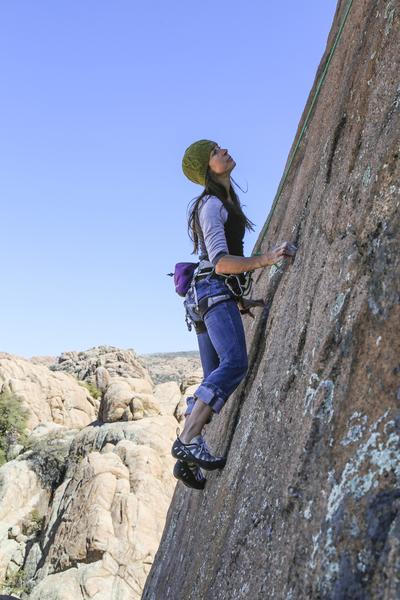 Kerry Estey Keith climbing Miss Ohio