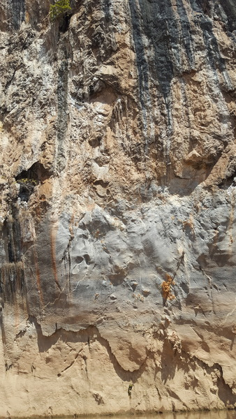 Climb directly up into the thin seam on the right side of the photo. Steep, blank, and possible looking moves :-)