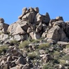 Close up of the rockpile - Nightmares ascends the left third of the photo