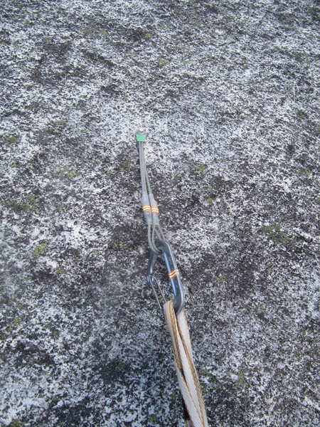 There is something about this route that is prone to loosening or flattening hangers, so I recommend you bring both a wrench and some wired stoppers in case you encounter some issues. Generally speaking this isn't a skip-some-bolts kind of route.