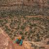 Lauren D free climbing on Pitch 1