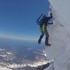 Climbing above the Bergschrund on the Liberty Ridge June of 2016