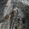There is a great combination of tufa and slab climbing to be found at world trip.