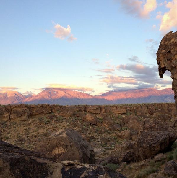 Wheeler Crest behind Tablelands - with Raptor Rock