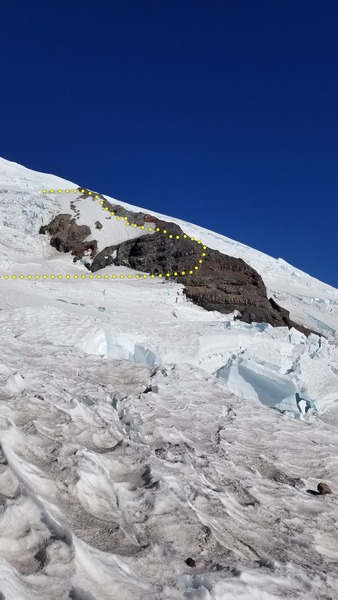 looking out on Ingraham Glacier towards the disappointment cleaver