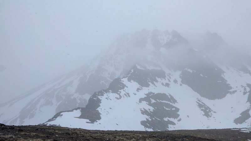O'Malley NW Ridge on a fairly nasty day in May 2017