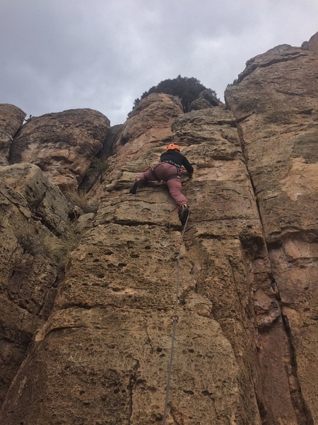 Leah Shotski's first lead climb, and so can you!