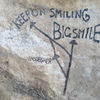 Big smile shares the same Classic start then continue as straight up the light coloured Rock high on the head wall.