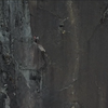The p4 finger crack! Climbers on last pitch anchor for Centerfold/Megalomania. Photo: Scott Welch