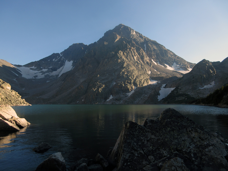 View from Avalanche Lake campsite.