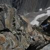 The initial downclimb off of West Granite Peak.