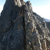 The ass crack of Granite Peak (aka. the crux chimney of the traverse).