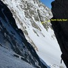 Great view of North Gully from the top of pitch 1 of Pinnacle Gully.