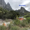 """Just inside the gate of """"La Cueva del Jabali"""", turn left and start up the good trail to the base of Buzz Rock"""