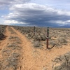 New trail signs along the West Rim Trail.  Approach from the Dead Cholla parking area.
