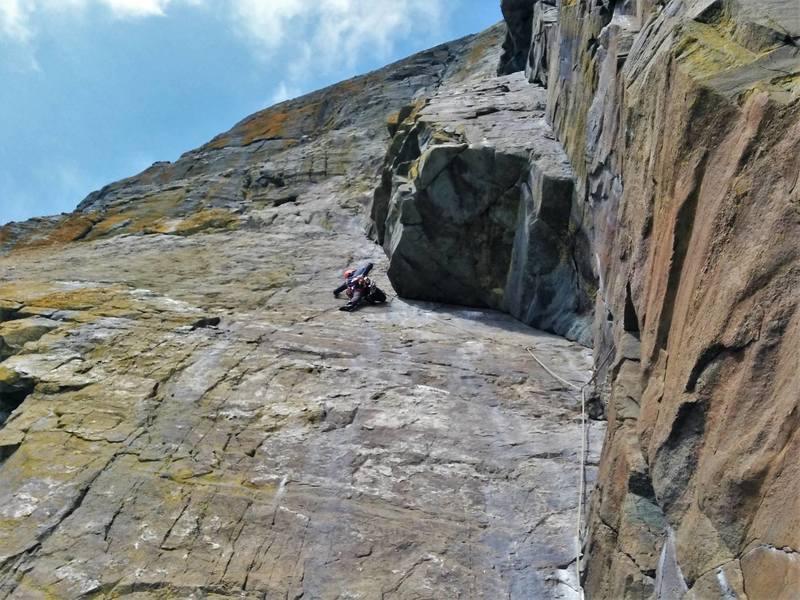 Climbing in Church Cove