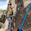 Getting ready to climb Teaching Right. Holds for days on this route.