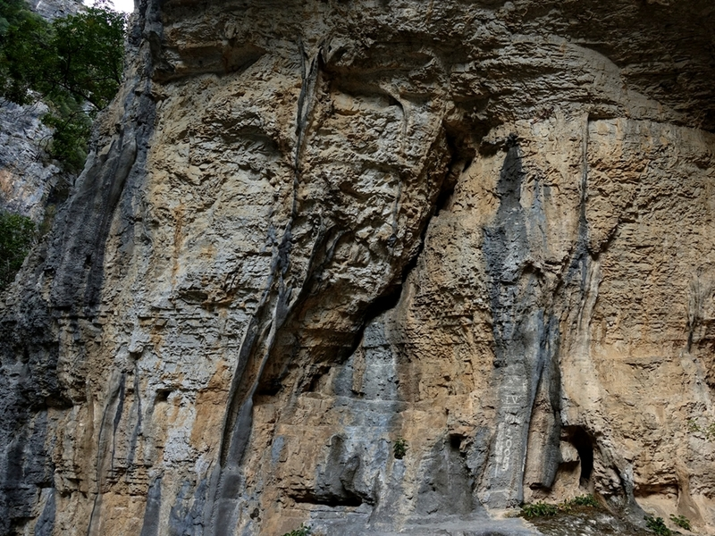 Main climbing area at Lengarica