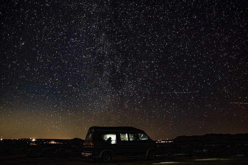 While out in the BLM make sure to step outside of your tent and take a look at the sky.