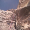 The crux on pitch 3