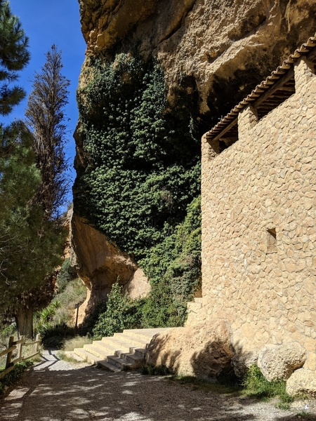 The main hermitage building at the start of the trail down to El Camí de L'Ermita.