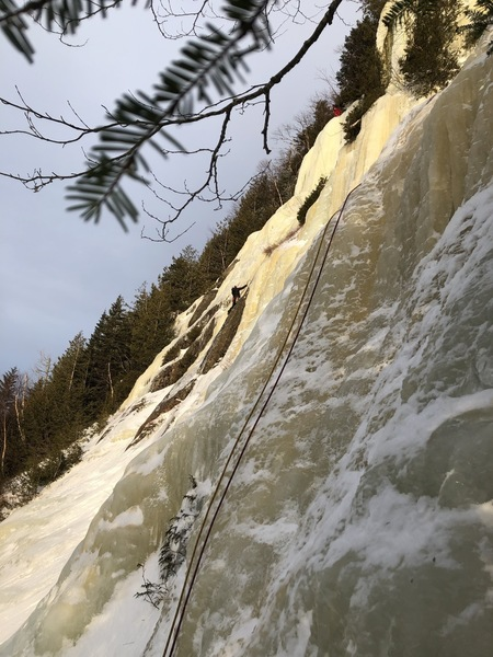 Start of P2 from the tree belay.