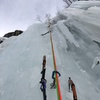 Heading up the pillar on Pitch 2