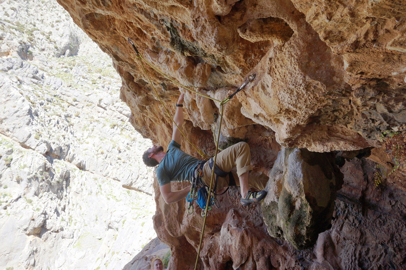 Completed the traverse, now for the sequential moves to the lip.