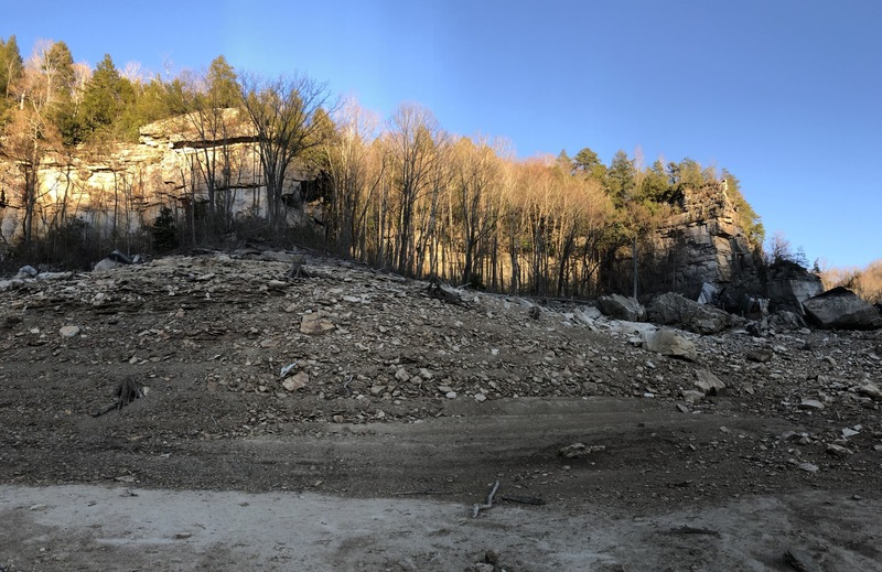 The Lost World as seen from the lake bed trail.